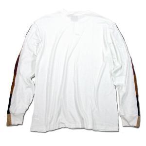 Phatee (ファッティー) LINE PATCH L/S TEE ヘンプコットン ロングスリーブ Tシャツ / WHITE|greenplanet|04