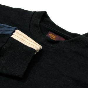 Phatee (ファッティー) LINE PATCH L/S TEE ヘンプコットン ロングスリーブ Tシャツ / BLACK|greenplanet|02