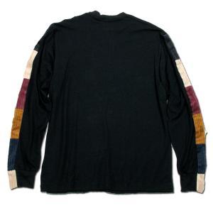 Phatee (ファッティー) LINE PATCH L/S TEE ヘンプコットン ロングスリーブ Tシャツ / BLACK|greenplanet|04