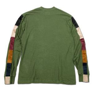 Phatee (ファッティー) LINE PATCH L/S TEE ヘンプコットン ロングスリーブ Tシャツ / OLIVE|greenplanet|04