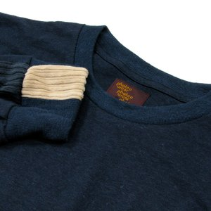 Phatee (ファッティー) LINE PATCH L/S TEE ヘンプコットン ロングスリーブ Tシャツ / NAVY|greenplanet|02
