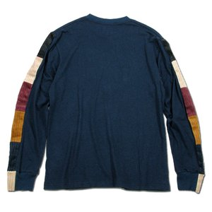 Phatee (ファッティー) LINE PATCH L/S TEE ヘンプコットン ロングスリーブ Tシャツ / NAVY|greenplanet|04
