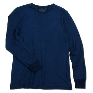 Phatee (ファッティー) SUPERIOR MILD CREW L/S ヘンプコットン 長袖 クルーネック Tシャツ / INDIGO|greenplanet