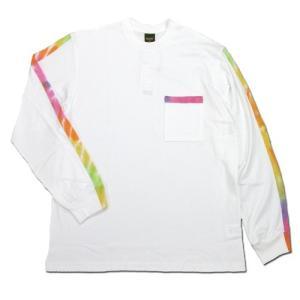 Phatee (ファッティー) TIEDYE LINE L/S TEE ロングスリーブ Tシャツ タイダイ / WHITE|greenplanet