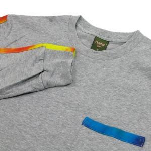 Phatee (ファッティー) TIEDYE LINE L/S TEE ロングスリーブ Tシャツ タイダイ / HEATHER GRAY greenplanet 02