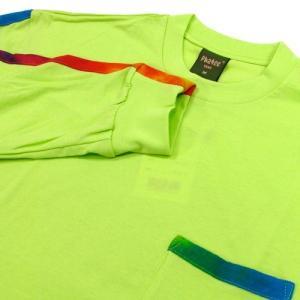 Phatee (ファッティー) TIEDYE LINE L/S TEE ロングスリーブ Tシャツ タイダイ / NEON GREEN|greenplanet|02