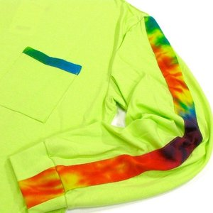 Phatee (ファッティー) TIEDYE LINE L/S TEE ロングスリーブ Tシャツ タイダイ / NEON GREEN|greenplanet|03