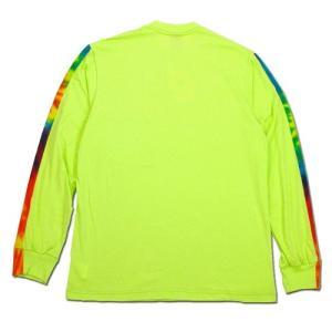 Phatee (ファッティー) TIEDYE LINE L/S TEE ロングスリーブ Tシャツ タイダイ / NEON GREEN|greenplanet|04