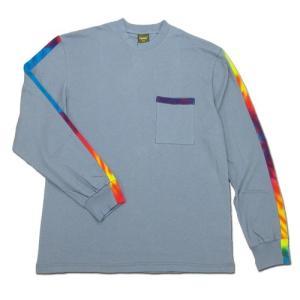Phatee (ファッティー) TIEDYE LINE L/S TEE ロングスリーブ Tシャツ タイダイ / MICHEL BLUE|greenplanet