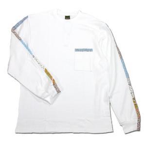 Phatee (ファッティー) FLOWER LINE L/S TEE ロングスリーブ Tシャツ / WHITE greenplanet