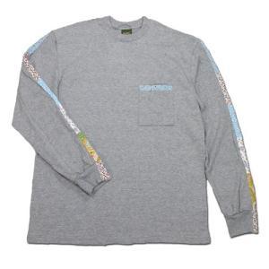 Phatee (ファッティー) FLOWER LINE L/S TEE ロングスリーブ Tシャツ / HEATHER GRAY|greenplanet