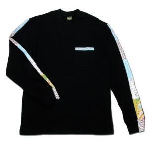 Phatee (ファッティー) FLOWER LINE L/S TEE ロングスリーブ Tシャツ / BLACK|greenplanet