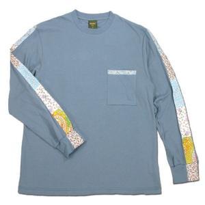 Phatee (ファッティー) FLOWER LINE L/S TEE ロングスリーブ Tシャツ / MICHEL BLUE|greenplanet