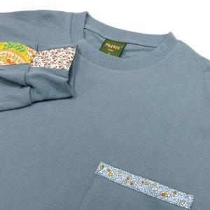 Phatee (ファッティー) FLOWER LINE L/S TEE ロングスリーブ Tシャツ / MICHEL BLUE|greenplanet|02
