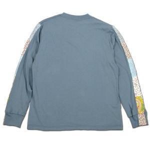 Phatee (ファッティー) FLOWER LINE L/S TEE ロングスリーブ Tシャツ / MICHEL BLUE|greenplanet|04