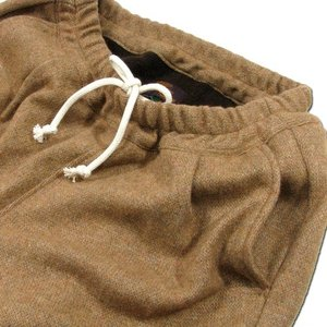 Phatee (ファッティー) UNPRESSION PANTS リサイクルウール 裏フリース パンツ / CAMEL|greenplanet|03