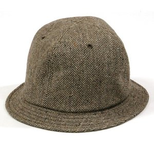Phatee (ファッティー) FABRE RECYCLE WOOL リサイクルウール メトロハット / BROWN TWEED|greenplanet
