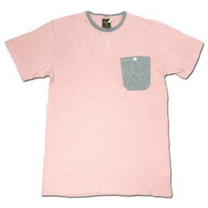 Phatee (ファッティー) WORK TEE ヘンプコットン ワークシャツ Tシャツ / PINK|greenplanet