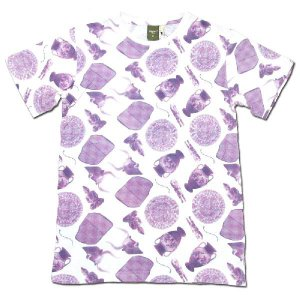 Phatee (ファッティー) ROCK TEE PRINTED 総柄 Tシャツ / REMAINS PINK|greenplanet