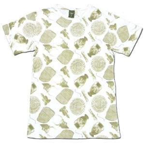Phatee (ファッティー) ROCK TEE PRINTED 総柄 Tシャツ / REMAINS YELLOW|greenplanet