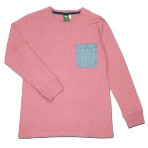 Phatee (ファッティー) POCKET TEE 9/10 ヘンプコットン 9分袖 Tシャツ / PINK|greenplanet