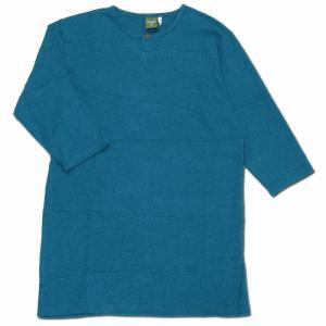 Phatee (ファッティー) PROGRESS 2/3 TEE 2/3袖Tシャツ / TURQUOISE|greenplanet