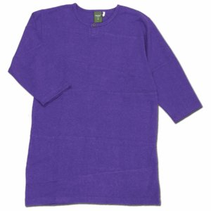 Phatee (ファッティー) PROGRESS 2/3 TEE 2/3袖Tシャツ / PURPLE|greenplanet