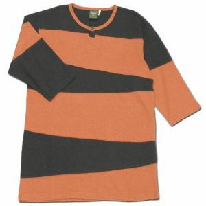 Phatee (ファッティー) PROGRESS 2/3 TEE 2/3袖Tシャツ / ORANGE|greenplanet