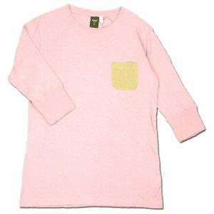Phatee (ファッティー) NARDEE ヘンプコットン 2/3 スリーブ Tシャツ / PINK|greenplanet