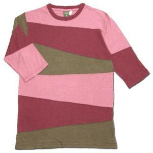 Phatee (ファッティー) PROGRESS 2/3  ヘンプ 2/3袖Tシャツ / PINK|greenplanet