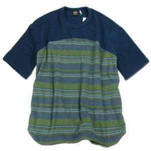 Phatee (ファッティー) FLEECE BIG TEE リサイクル ペットボトル フリース ビッグ Tシャツ / BORDER|greenplanet