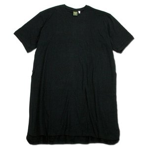 Phatee (ファッティー) LONG TEE ヘンプコットン オーバーサイズ ロング丈 Tシャツ / BLACK|greenplanet