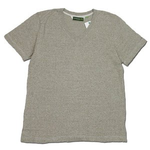 Phatee (ファッティー) SUPERIOR MILD V-NECK S/S TEE ヘンプコットン 杢カラー VネックTシャツ / NAVY|greenplanet