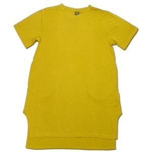 Phatee (ファッティー) SLEEPING TEE ヘンプコットン スリーピング Tシャツ / SMOKE MUSTARD|greenplanet
