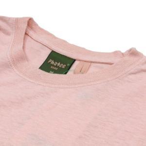 Phatee (ファッティー) ETERNI TEE ヘンプコットン ショートスリーブ Tシャツ / PINK|greenplanet|03