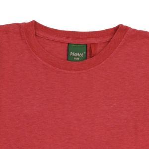 Phatee (ファッティー) ETERNI TEE ヘンプコットン ショートスリーブ Tシャツ / RED|greenplanet|02