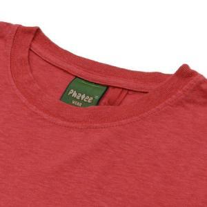 Phatee (ファッティー) ETERNI TEE ヘンプコットン ショートスリーブ Tシャツ / RED|greenplanet|03
