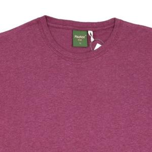 Phatee (ファッティー) ETERNI TEE ヘンプコットン ショートスリーブ Tシャツ / D.RED|greenplanet|02