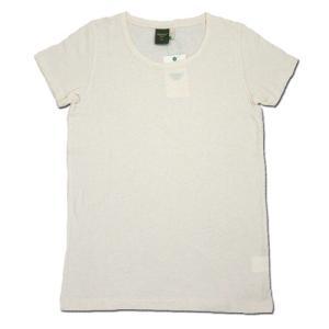 Phatee (ファッティー) ETERNI TEE ヘンプコットン レディース ショートスリーブ Tシャツ / KINARI (XS) greenplanet