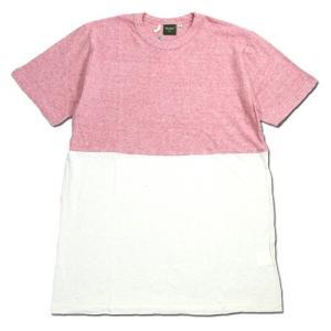 Phatee (ファッティー) HALF PILE TEE バイカラー ショートスリーブ Tシャツ / RED|greenplanet