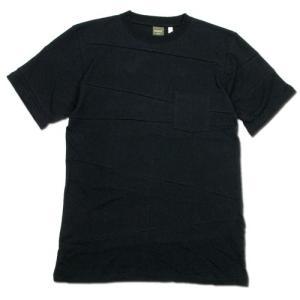 Phatee (ファッティー) PROGRESS POCKET TEE ヘンプコットン パッチワーク Tシャツ / BLACK|greenplanet