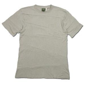 Phatee (ファッティー) PROGRESS POCKET TEE ヘンプコットン パッチワーク Tシャツ / BEIGE|greenplanet