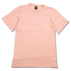 Phatee (ファッティー) PROGRESS POCKET TEE ヘンプコットン パッチワーク Tシャツ / PINK|greenplanet