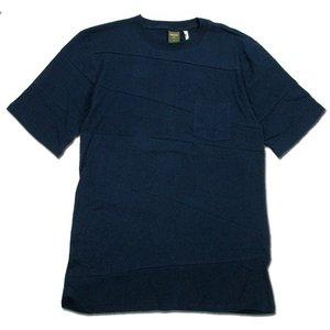 Phatee (ファッティー) PROGRESS POCKET TEE ヘンプコットン パッチワーク Tシャツ / NAVY|greenplanet