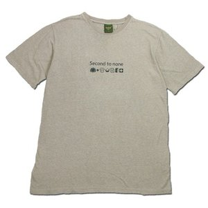 Phatee (ファッティー) SECOND TO NONE TEE ヘンプコットン ショートスリーブ Tシャツ / BEIGE|greenplanet