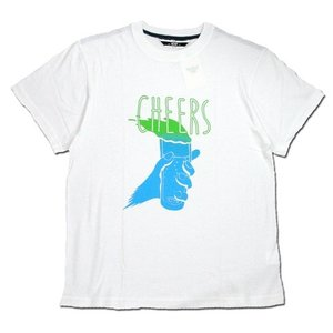 Phatee (ファッティー) CHEERS TEE ヘンプコットン ショートスリーブ Tシャツ / WHITE|greenplanet
