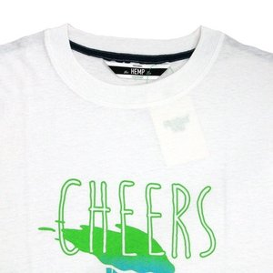 Phatee (ファッティー) CHEERS TEE ヘンプコットン ショートスリーブ Tシャツ / WHITE|greenplanet|02