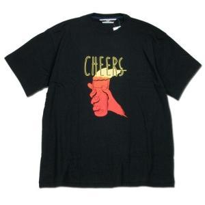 Phatee (ファッティー) CHEERS TEE ヘンプコットン ショートスリーブ Tシャツ / BLACK|greenplanet