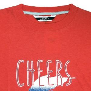 Phatee (ファッティー) CHEERS TEE ヘンプコットン ショートスリーブ Tシャツ / RED|greenplanet|02