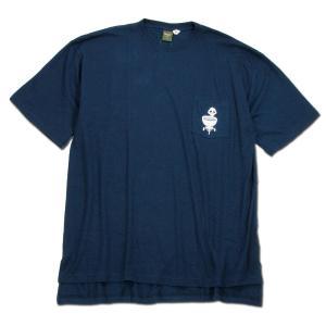 Phatee (ファッティー) BBQ STOVE TEE ヘンプコットン ショートスリーブ Tシャツ / NAVY|greenplanet